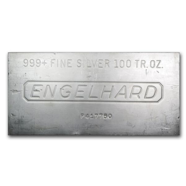 100 unzen  Silberbarren - Engelhard