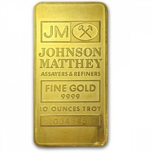 10 unzen  Goldbarren - Johnson Matthey