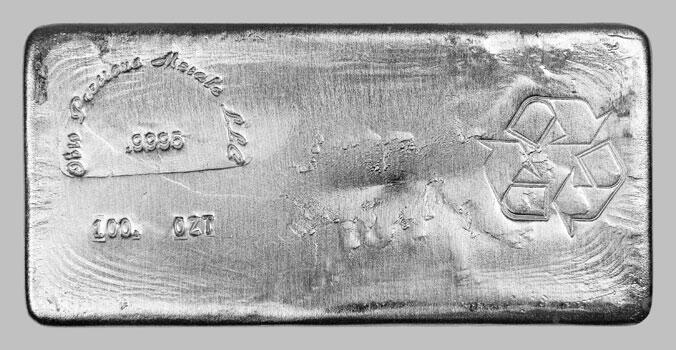 100 unzen  Silberbarren - Ohio Precious Metals