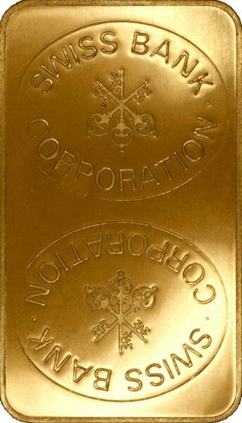 1 kilogramm  Goldbarren - Swiss Bank Corporation
