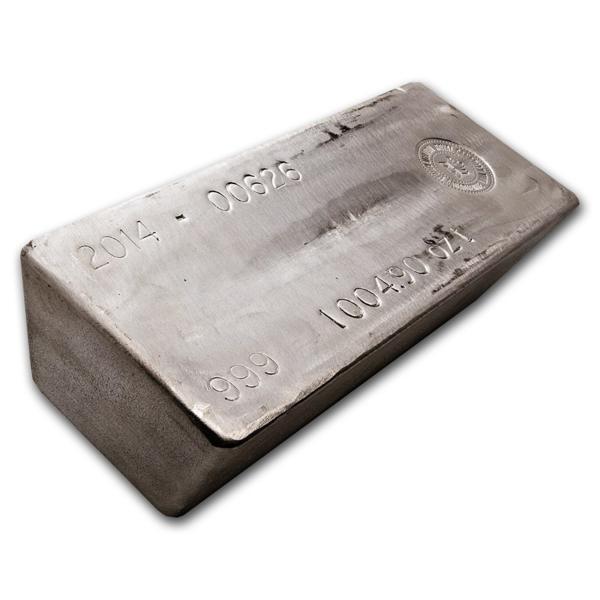 1000 unzen  Silberbarren - AGR Matthey