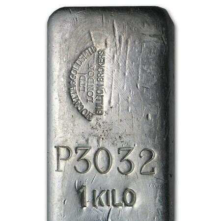 1000 unzen  Silberbarren - Mocatta & Goldsmid Ltd