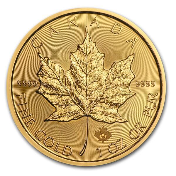 1 unze Maple Leaf Goldmünze - Münztube 10 - 2015 - Royal Canadian Mint