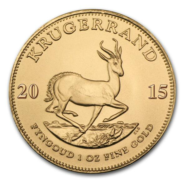 1 unze Krugerrand Goldmünze - Münztube 10 - Mixed years - South African Mint