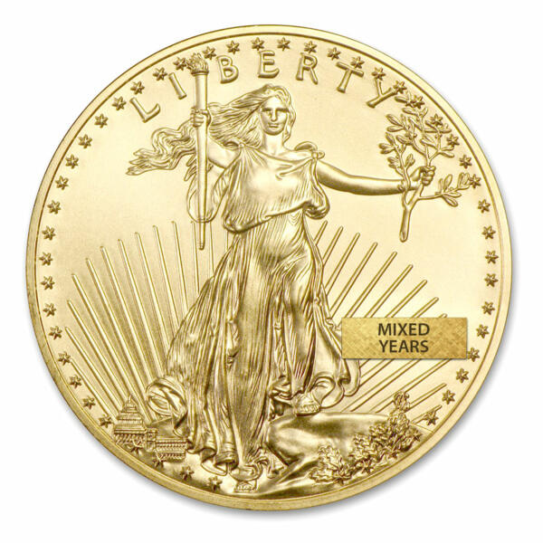 1 unze American Eagle Goldmünze - US Mint