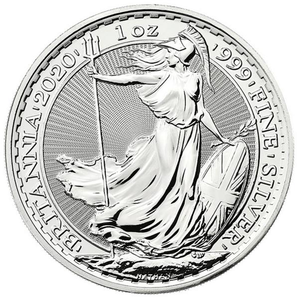 1 Unze Silber Britannia - Monsterbox mit 500 Stück - 2020 - The Royal Mint