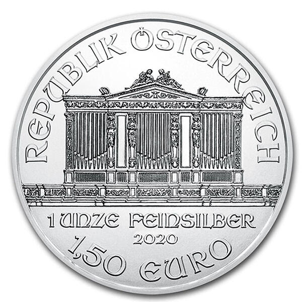 1 Unze Silber Philharmoniker - Monsterbox mit 500 Stück - 2020 - Austrian Mint
