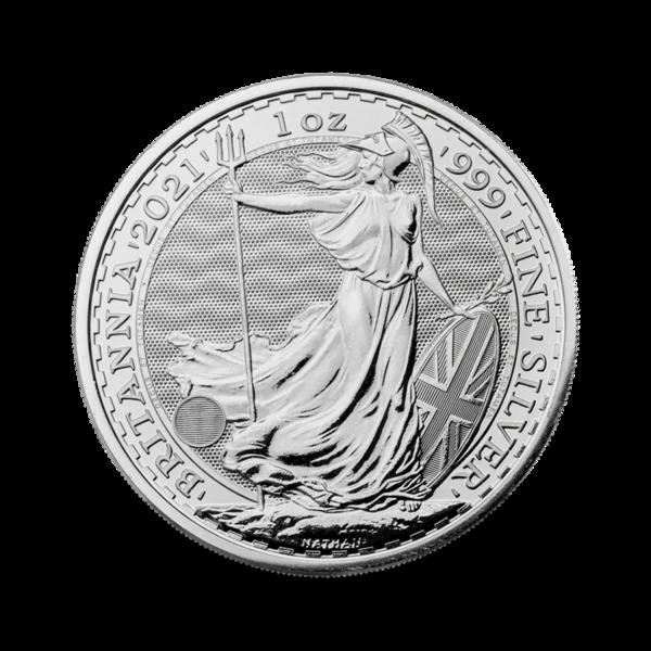 1 Unze Silber Britannia - Monsterbox mit 500 Stück - 2021 - The Royal Mint
