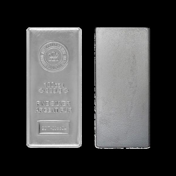 100 Unzen  Silberbarren - Royal Canadian Mint