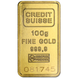 100 grams  Gold Bar - Crédit Suisse