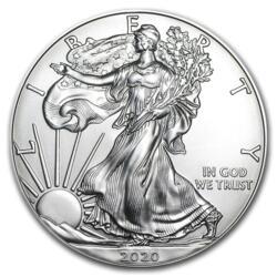1 Unze Silber American Eagle - Monsterbox mit 500 Stück - 2020 - US Mint