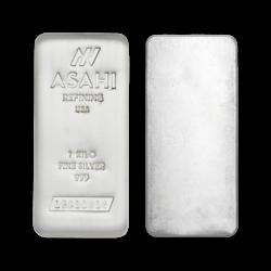 1 Kilogramm  Silberbarren - Asahi Refining